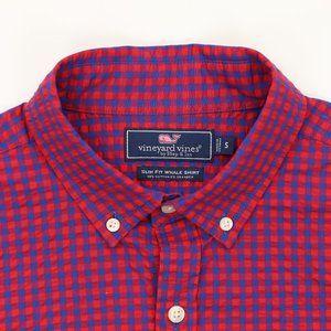 Vineyard Vines Slim Fit Seersucker Shirt Small